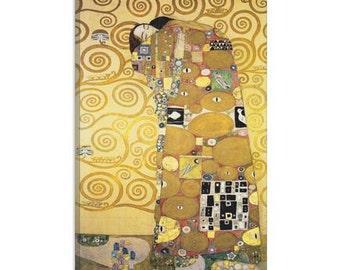 "Erfullung 1905 by Gustav Klimt Canvas Art Print (1104) 18""x12"""