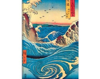 "Navaro Rapids, C.1855 by Ando Hiroshige Canvas Art Print (1407) 12""x8"""