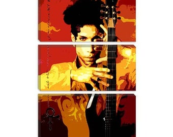 "Prince Canvas Giclee Art Print (408) 60""x40"" 3-Piece"