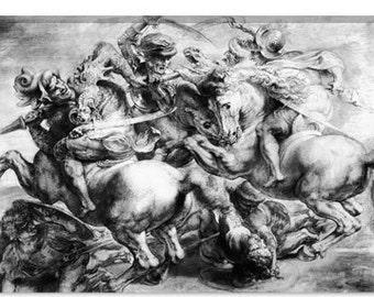 "The Battle of Anghiari by Peter Paul Rubens Canvas Art Print (1437) 61""x41"" Thick Bars"