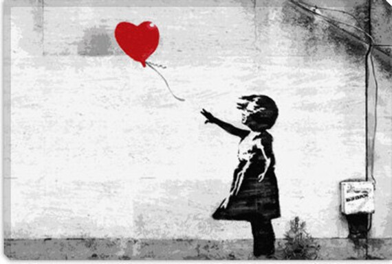 """Girl with a Balloon by Banksy (2022) 26""""x18"""""""