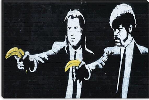 "Pulp Fiction Bananas by Banksy (2073) 26""x18"""