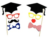 Graduation Party Photo Booth Props  - 8 piece set - Photobooth Props Party Props