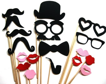 Photo Booth Party Props - The  Sexy Collection -  18 piece set - Birthdays, Weddings, Parties - Photobooth Props
