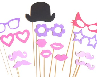 Photo Booth Props - The Princess Collection - 14 piece prop set