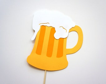 Photo Booth Props - Beer Mug on a stick Photo booth Prop - Fun Photobooth Props
