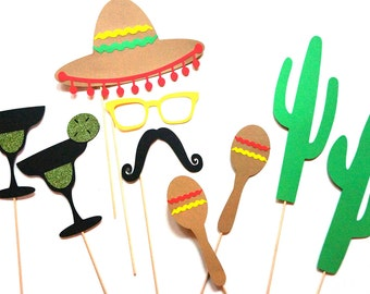 Photo Booth Props ~ Cinco De Mayo Photobooth Props ~ Fiesta Props