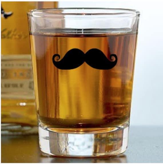 Mustache Shot Glass -  You pick Stache Designs