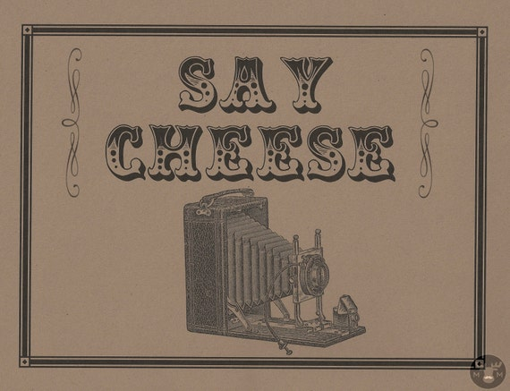 Photo Booth Props - Say Cheese Photo Booth Sign - Photobooth Props - vintage wedding - rustic wedding