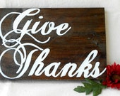Little Lovely Give Thanks Sign