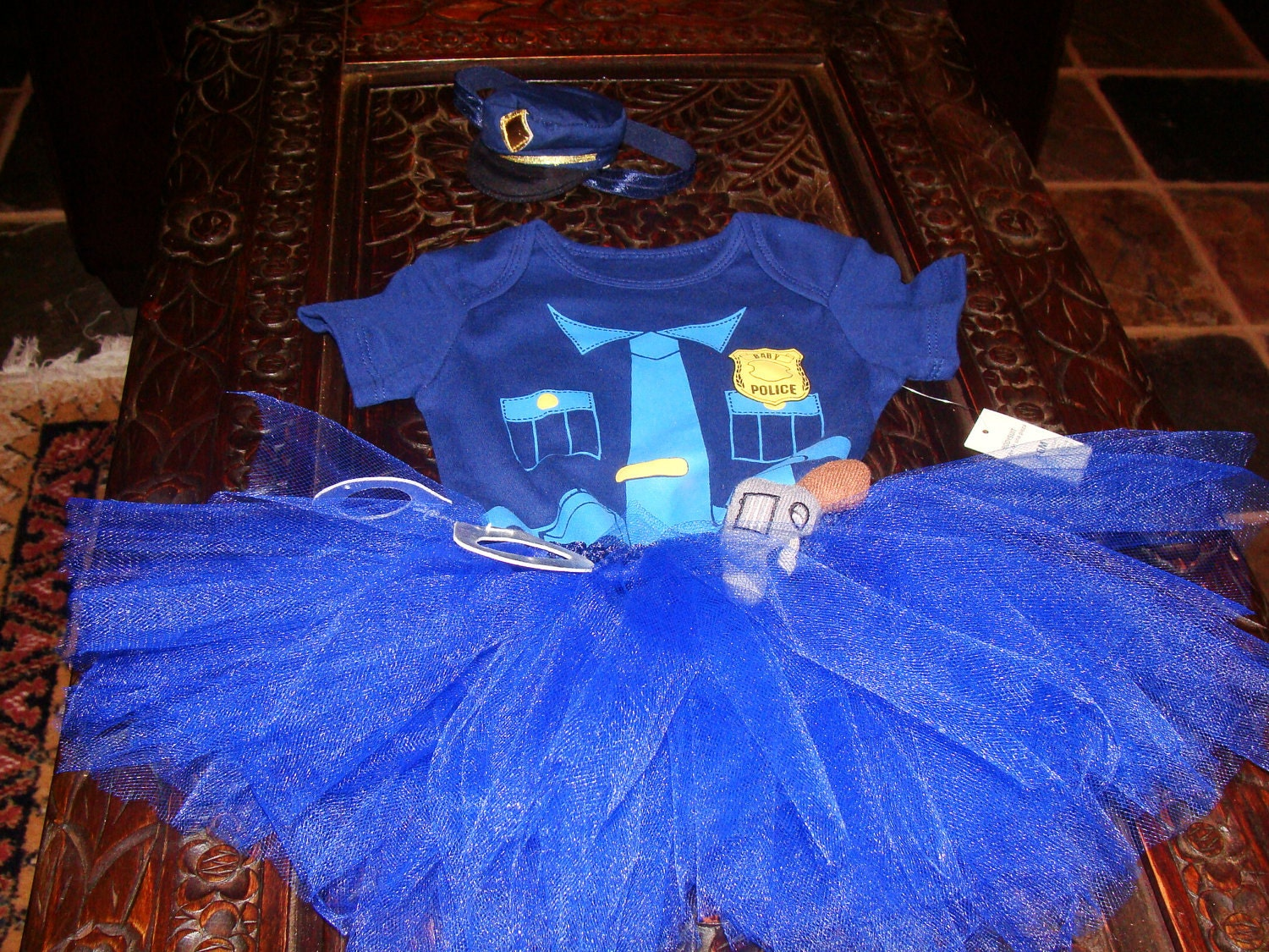 Boutique Baby Girls Police Outfit Halloween Costume Tutu Dress
