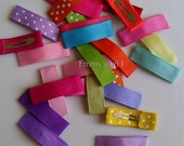 Lined small snap hair clips (25)