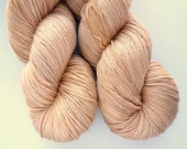 Merino Silk Yarn - Hand Dyed 50/50 Merino Silk Fingering Weight in Champagne Colorway