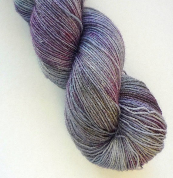 Sale 10% off - BFL Sock Yarn - Hand Dyed 75/25 BFL/Nylon Fingering Weight Yarn in Cinderella Colorway