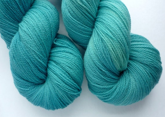 Hand Dyed Yarn - Merino Lace Weight in Seven Seas Colorway