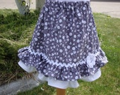 Double Ruffle Skirt in Gray  Sizes 2T-6X