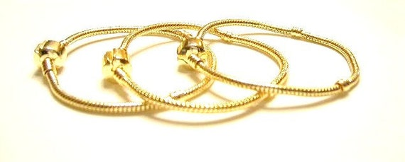 Gold Plated, Magnetic Clasp, 7.25 inch, Empty Charm Bracelet