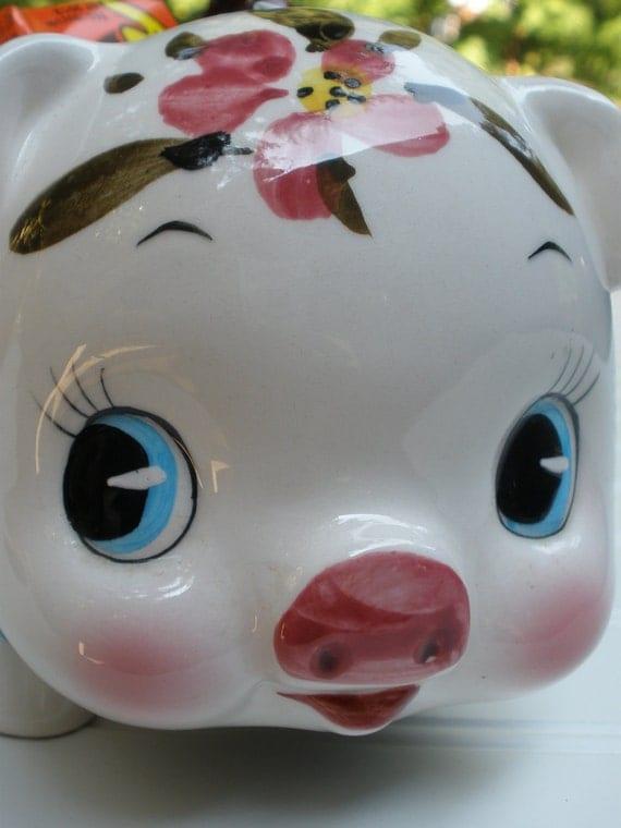 Piggy Planter Piggy Bank Vintage Relpo Imports 1965 Super