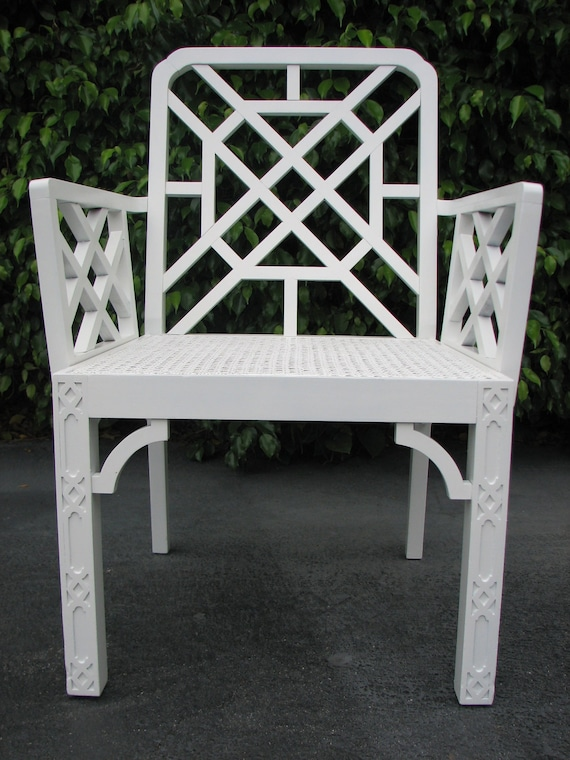 Chinese Chippendale Fretwork Chair