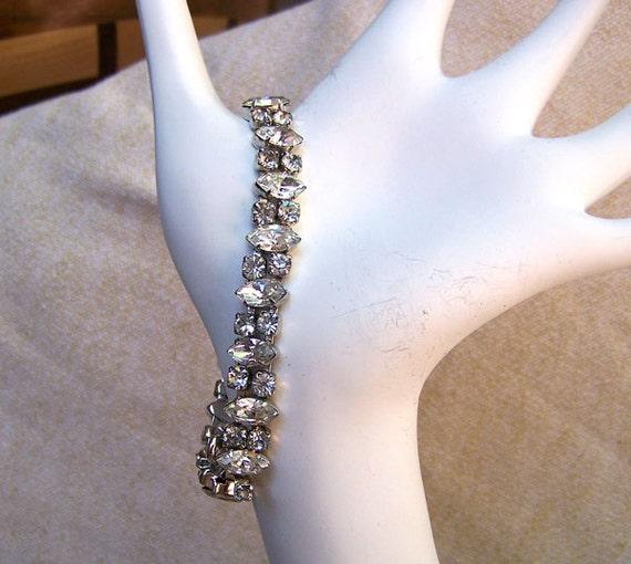 Weiss bracelet outstanding vintage clear rhinestone jewelry