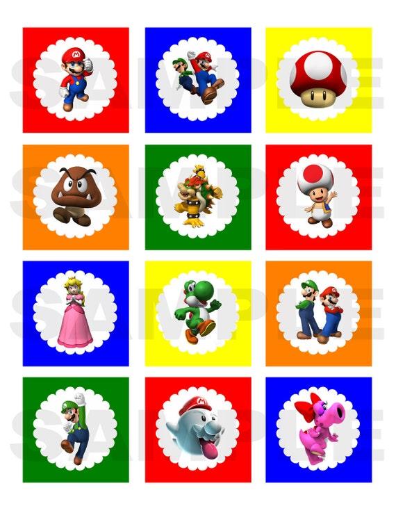Items similar to DIY Printable Super Mario Bros Inspired Cupcake ...