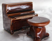 Vintage Piano and Stool Salt and Pepper Shakers