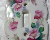 Vintage Kelvin China Hand Painted Switch Plate Cover