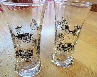 Vintage Retro Antique Cars Tall Shot Glasses