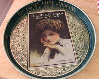 Ladies Home Journal Green Serving Tray