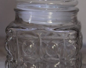 Vintage Bubbled Glass Apothecary Jar