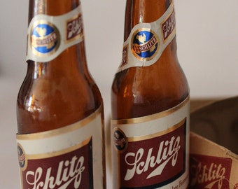 Schlitz Beer Bottle Salt and Pepper Shakers