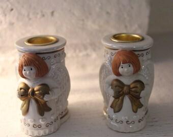 Christmas Angel Candle Holders