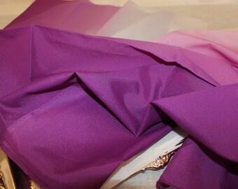 Vintage Nylon Ombre Purple fading to white Scarf