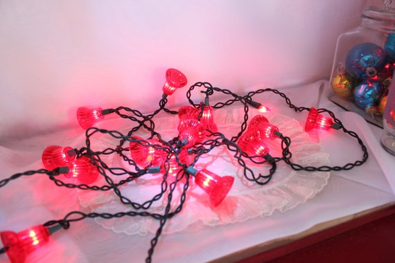 Red Bells Flashing Christmas Lights