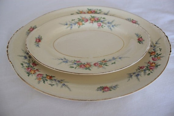 Homer Laughlin Eggshell Nautilus Serving Platters