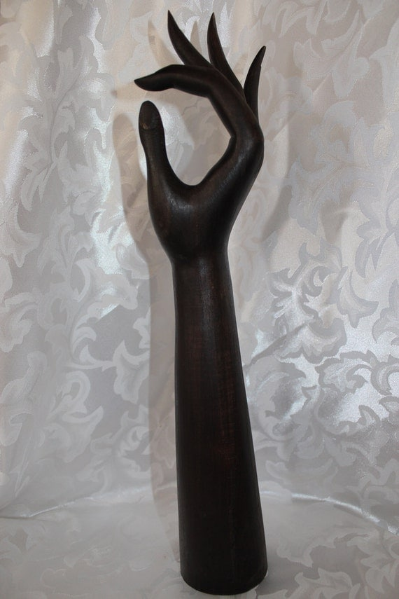 RESERVED for Pretty Primative..................Vintage Large Wood Hand Sculpture