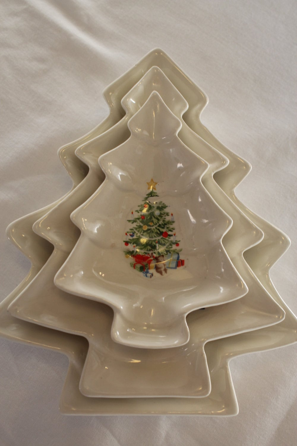 Vintage christmas candy dishes