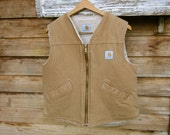 Vintage Carhartt Sherpa Pile Lined Vest Small