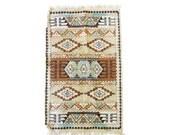 Vintage Navajo Print Runner Rug 46 x 28