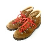 Vintage Vasque Style Leather Ankle Hiking Boots Mens Size 10