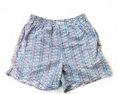 Vintage 80s Button Front Swim Trunks By Columbia Perfect for Summer