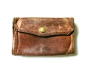 Vintage 1970s Heavy Leather Tri-Fold Wallet