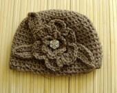 0-3 months handmade chrochet baby hat