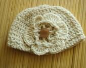 Newborn handmade crochet baby girls hat..