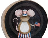 Vinyl Decal Wall Sticker - 4th of july mouse