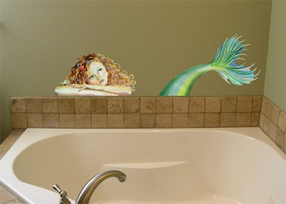 Mermaid Mural Wall Decal