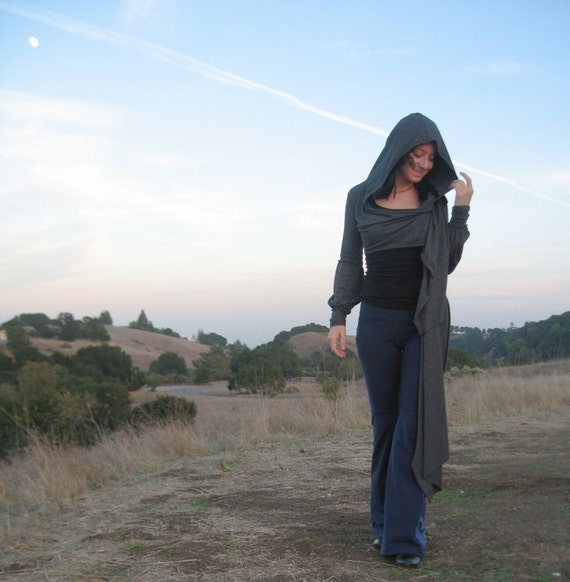 RESERVED FOR ANNE Victoria Wrap - in Heather Gray - throw jacket hoodie