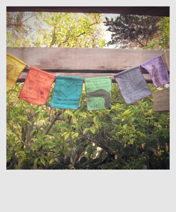 prayer flag happiness themed