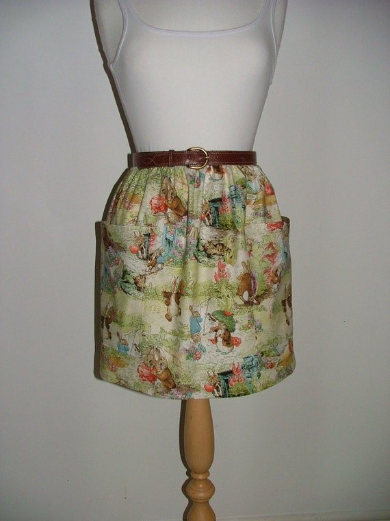 The story of peter rabbit beatrix potter high waisted skirt with pockets