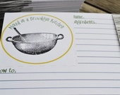 SALE - Recipe Cards - Mixing Bowl - Mixed in a Brooklyn Kitchen Set of 14
